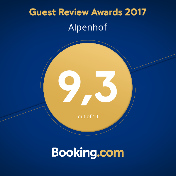 Alpenhof Guest Review Award